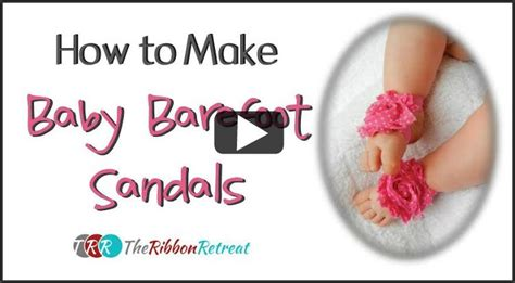 how to make baby barefoot sandals with ribbon 4th of july bows and crafts the ribbon retreat