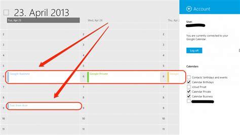 Gmail Calendars Syncing Calendar With Windows 8 Calendar Template