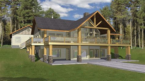 Two Story House Plans With Walkout Basement Vacation Home Plans Homeplans