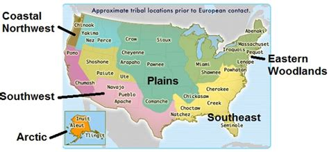 american tribal areas map chapter 1 the americans
