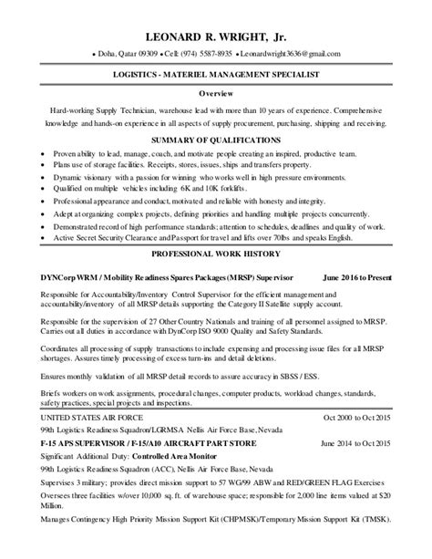 leonard wright resume 2016 copy2