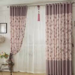 violet feuille salon patio panneau de porte rideaux
