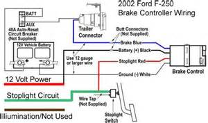 wire diagram for installing a voyager brake controller on a 2002 ford f 250 etrailer