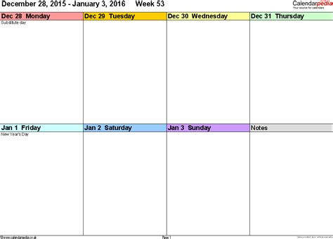 Free Template For doc 710849 26 blank weekly calendar templates pdf excel