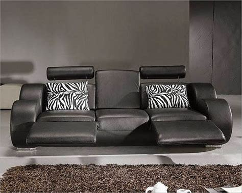 modern black and white leather sofa set 44l3088