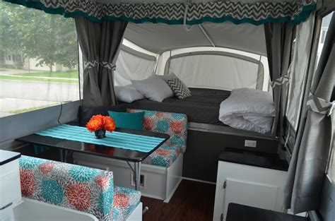 Ideas For Kitchen Window Curtains by Pop Up Camper Remodel