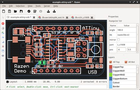 layout design mac os x razen pcb schematic layout tool