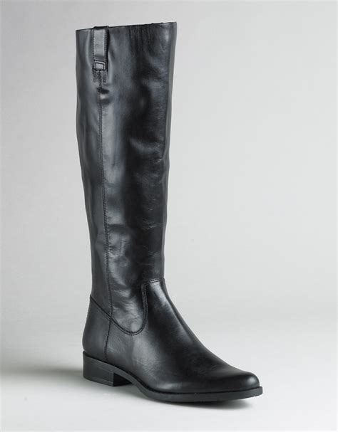 calvin klein tamryn leather boots in black black leather