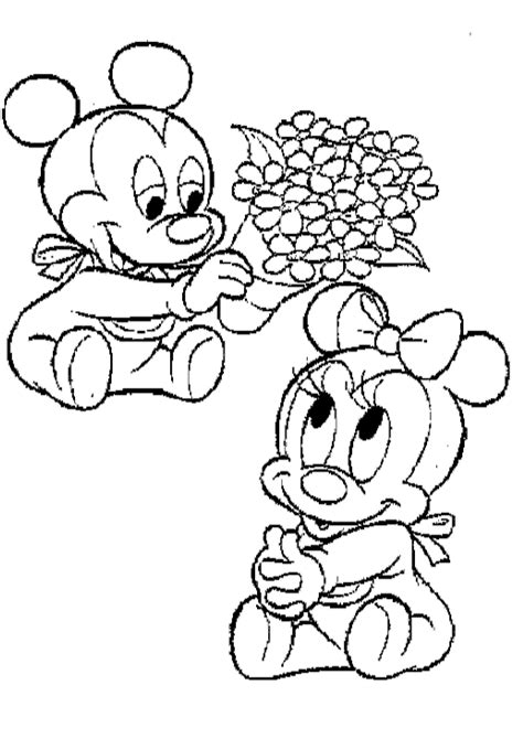 baby minnie mouse free coloring pages on coloring pages