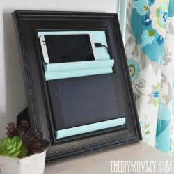 Tablet Charging Station by Remodelaholic Get Rid Of Cord Clutter With These 25 Diy