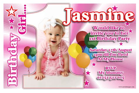 1st year birthday card template 1st birthday invitations 1st birthday invitations