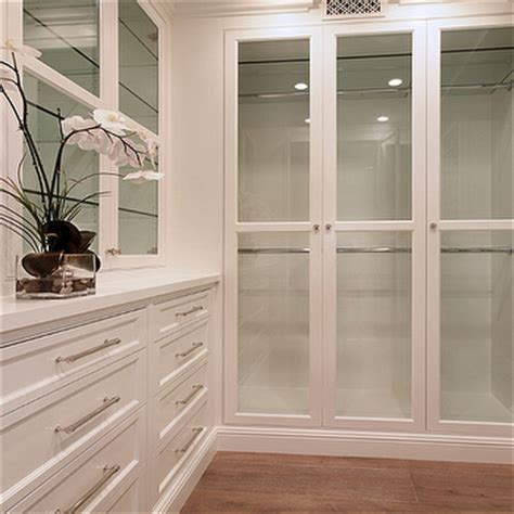 Glass Fronted Wardrobes - glass front closet cabinets design ideas