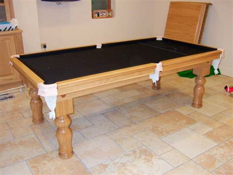 Snooker Dining Tables 7ft Oak Snooker Dining Table With Black Cloth Cover