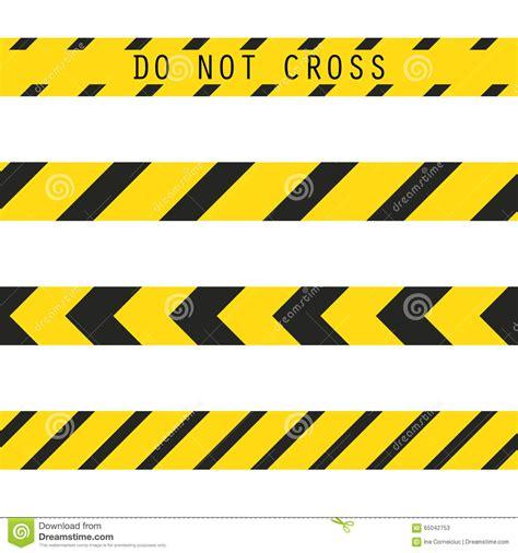 Cross Line caution border clip www pixshark images