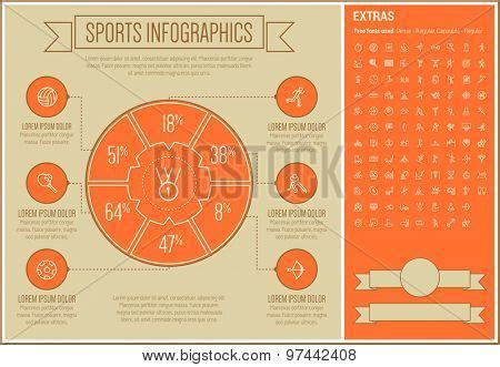 sports infographic template vector photo bigstock