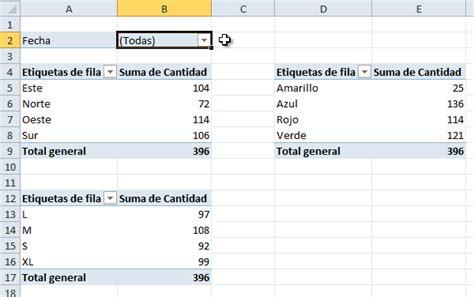 tablas dinmicas para hacer el estado de cambios en la c 243 mo vincular tablas din 225 micas por un filtro de informe