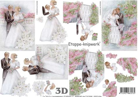Wedding Decoupage Sheets - the wedding 3d decoupage craft sheet