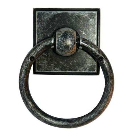 distressed nickel cabinet hardware eclectic distressed nickel ring pull alno inc other