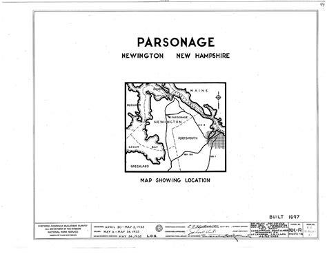 Rockingham County Nh Records File Parsonage Newington Rockingham County Nh Habs Nh 8 Newi 2 Sheet 0 Of 16 Tif