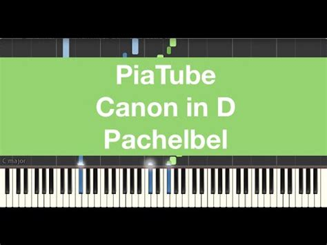 keyboard tutorial canon how to play quot canon in d pachelbel quot piano tutorial youtube