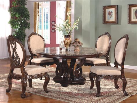 Circle Dining Room Table Sets Country Dining Room Set Table Formal Dining Collection With Carved Leg Table
