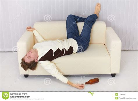 sofa funny drunk person funny sleeps on sofa stock photo image of