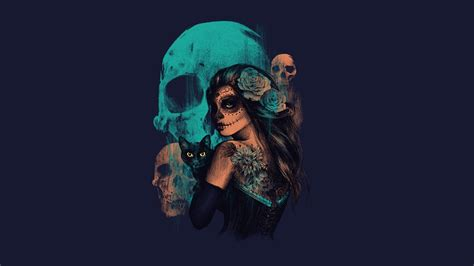 wallpaper full hd skull sugar skull hd wallpaper picture image