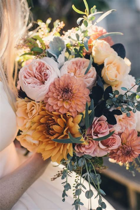 fall flowers for wedding diy wedding on block island with a watercolored gown