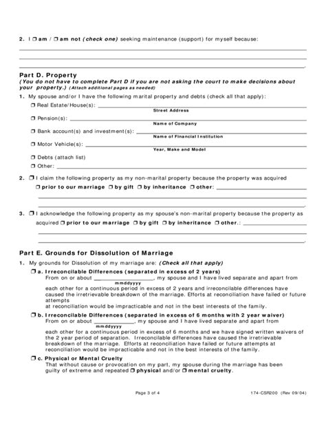 what petition for divorce dissolution petition for dissolution of marriage illinois free