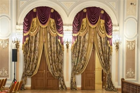 baroque curtains drapery ideas for living room