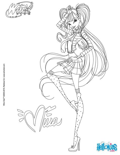 musa in dress coloring pages hellokids com
