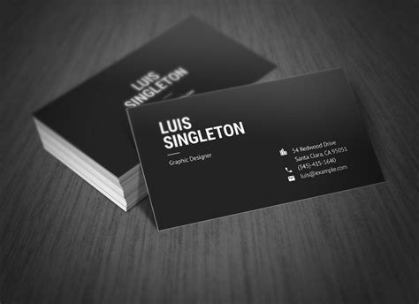 Free Indesign Business Card Template Behance by Clean And Minimal Business Card Template On Behance