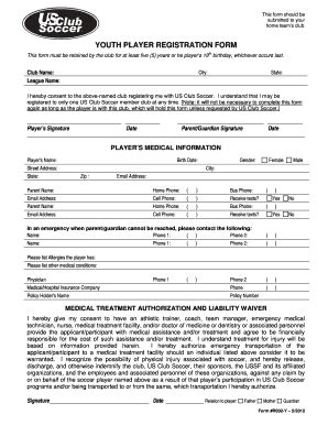 soccer registration form template r002 form fill printable fillable blank