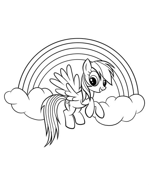 my little pony coloring pages of rainbow dash rainbow dash coloring pages 6 coloring pages for kids