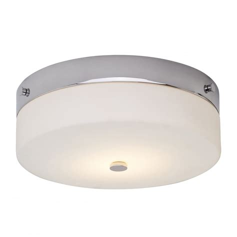 Chrome And Opal Glass Flush Fitting Bathroom Ceiling Light Ip44 Contemporary Flush Bathroom Ceiling Light In Chrome With Opal Glass