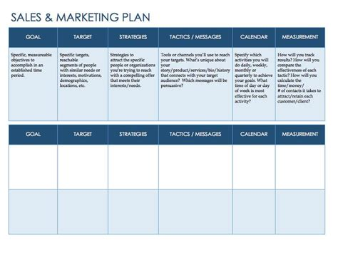 business plans templates and sles sales plan templates free premium