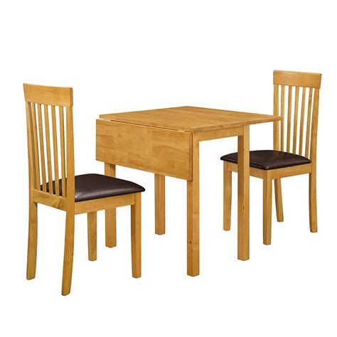 M S Dining Table Drop Leaf Dining Table And Two Chairs Set