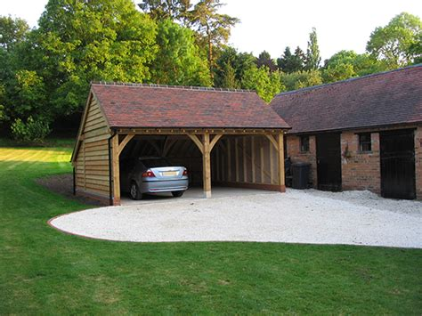 Garage Bay by Oak Framed Garages By Shires Oak Buildings