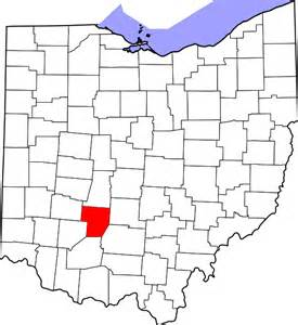 file map of ohio highlighting fayette county svg