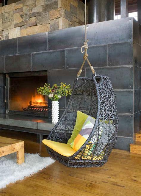 chic hanging hammock chair inspiration  living room modern