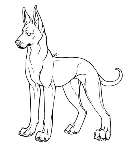 great dane coloring book coloring pages