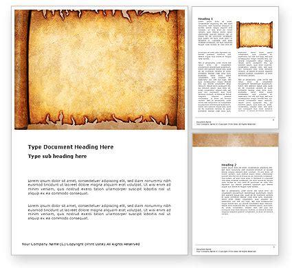 scroll word template 03378 poweredtemplate com