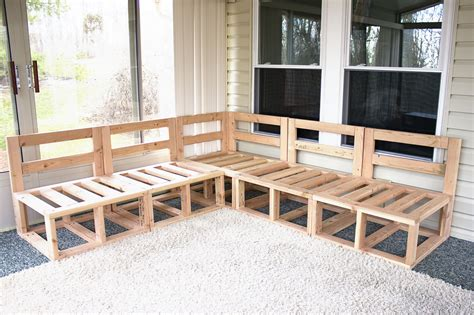 Furniture Building by White Outdoor Sectional Diy Projects