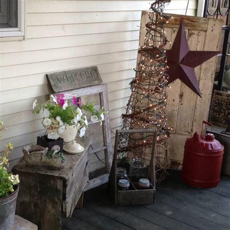 primitive porch decor porch ideas pinterest 80 best deck the christmas porch images on pinterest