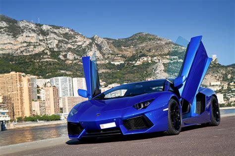 Lamborghini Aventador In Blue Black And Blue Lamborghini 8 Background Hdblackwallpaper