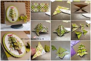 origami tree card diy craft projects