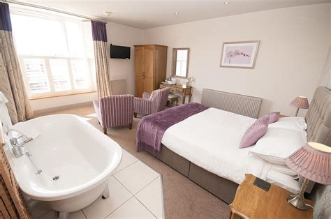 free standing bath in bedroom room 2 the castle hotel