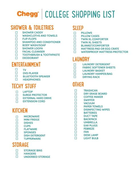 college checklist ultimate college packing list chegg play