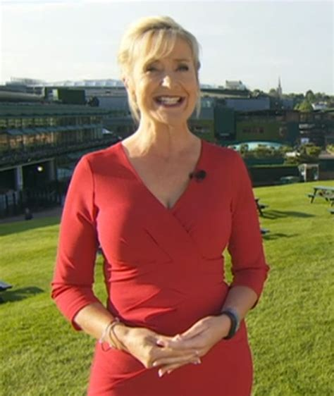 carol has her number 35 carol kirkwood flaunts her curves in tight red dress at