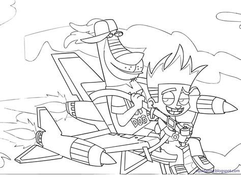johnny test coloring pages squid army